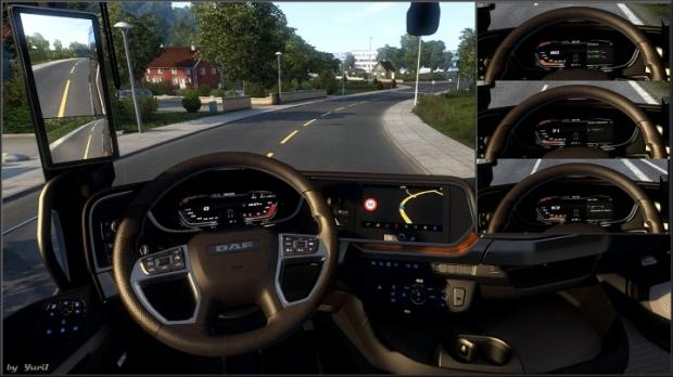 ETS2 - Dashboard Light DAF XG 2021 Pack V1.2 (1.41.x)
