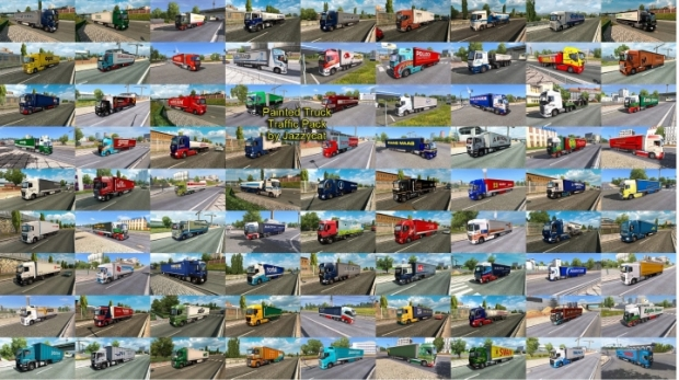 ETS2 - Painted Truck Traffic Pack V13.6 (1.41.x)