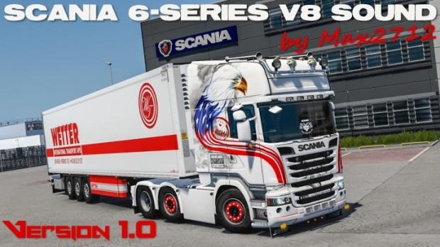 ETS2 - Scania 6-Series DC16 V8 Sound V1.0 (1.41.x)