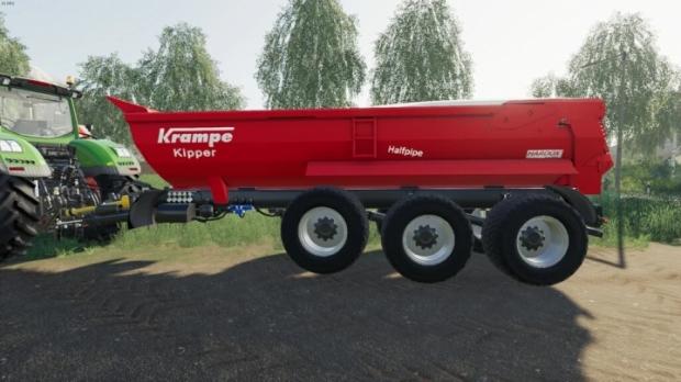 FS19 - Krampe Halfpipe HP30 Trailer V1.0
