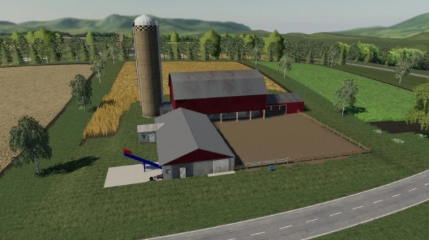 FS19 - Placeable Dairy Barn V1.0