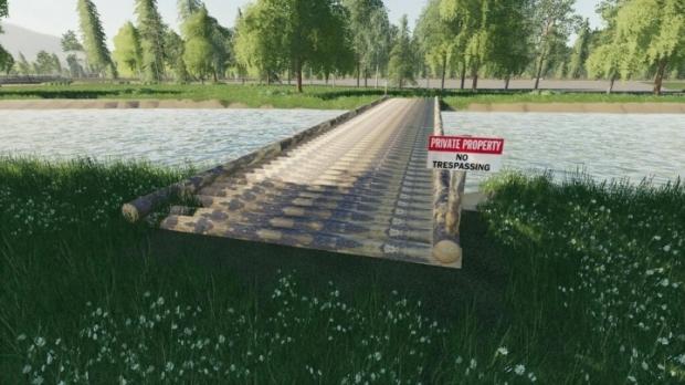 FS19 - Placeable Log Bridge V1.0