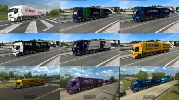 ETS2 - AI Tandem Trailers in Traffic Pack V1.1 (1.42.x)