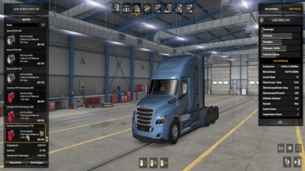 ATS - Engine with 750 HP and 3500 Nm Torque - For All Trucks V1.1 (1.42.x)