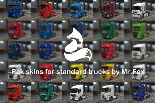 ETS2 - Pack of Russian Skins for SCS Trucks V0.7 (1.42.x)
