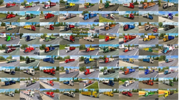 ETS2 - Painted Truck Traffic Pack V13.7.1 (1.42.x)