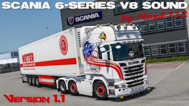 ETS2 - Scania 6-Series DC16 V8 Sound Mod V1.1 Hotfix (1.42.x)