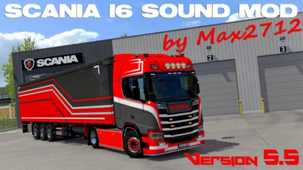 ETS2 - Scania NextGen I6 Sound V5.5 Final Hotfix (1.42.x)