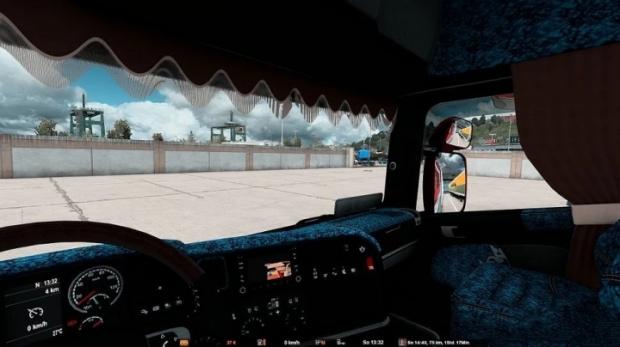 ETS2 - Scania RJL Highline Interior Blue Danish Plush (1.42.x)