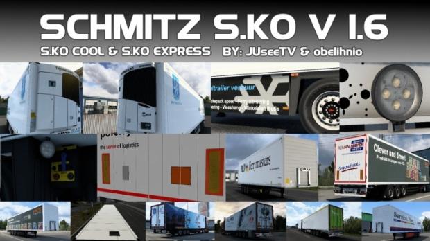 ETS2 - Schmitz S.KO Trailer V1.6 (1.42.x)
