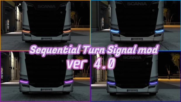 ETS2 - Sequential Turn Signal V4.0 (1.42.x)