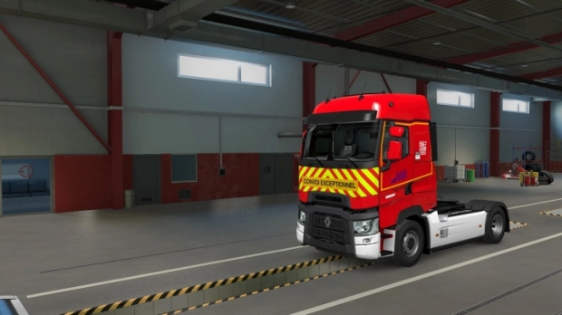 ETS2 - Skin Pompier de Saone et Loire Renault Range T First Gen V1.0 (1.41.x)