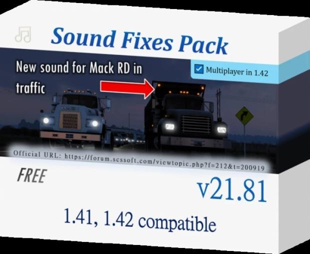ATS - Sound Fixes Pack V21.81 (1.42.x)