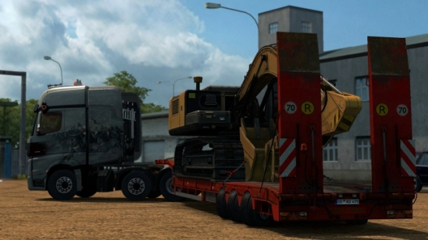 ETS2 - Steerable Axles for Lowbed Trailer (1.42.x)