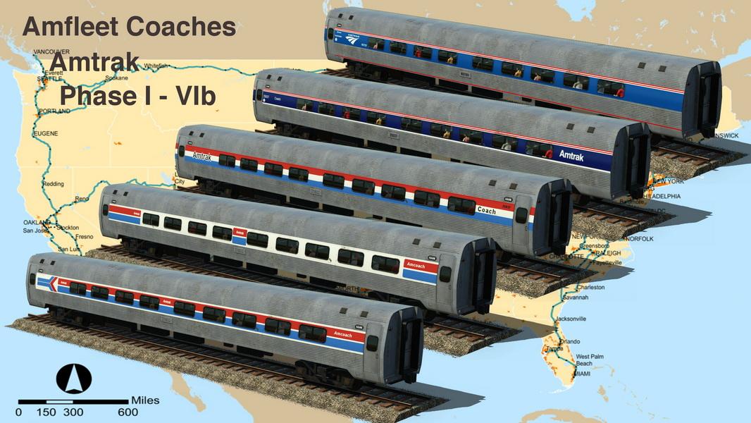 Transport Fever 2 - Amfleet Coaches – Amtrak Phase I-IVb