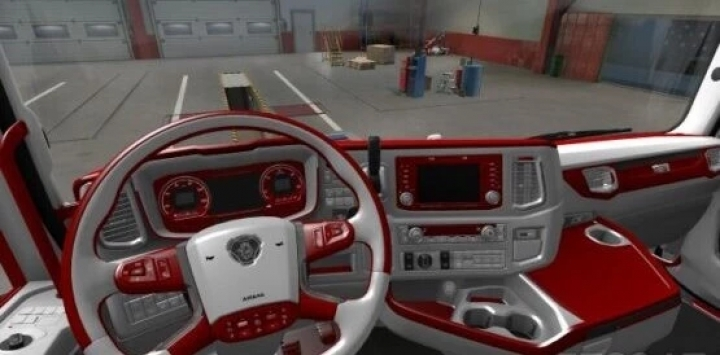 ETS2 - Scania Next Gen Red - White Interior (1.40.x)