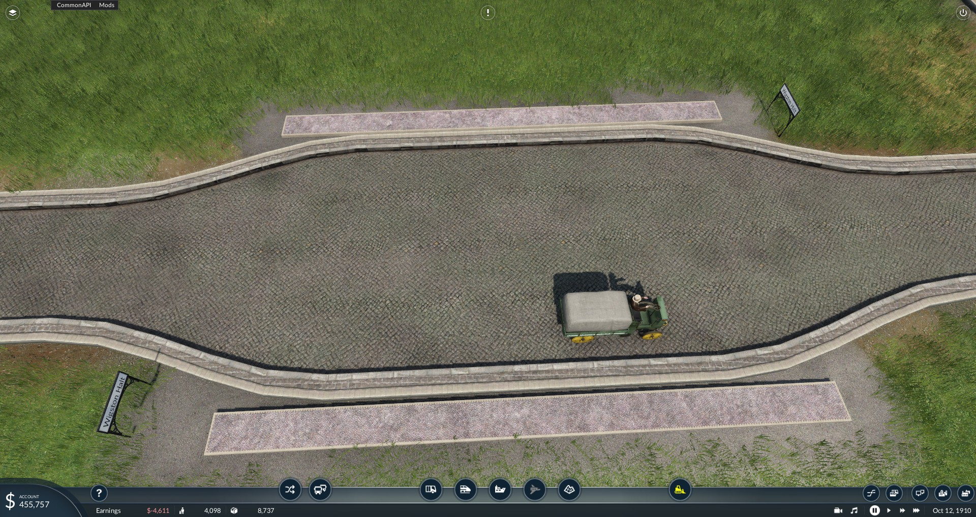 Transport Fever 2 - Small Inline Road Station