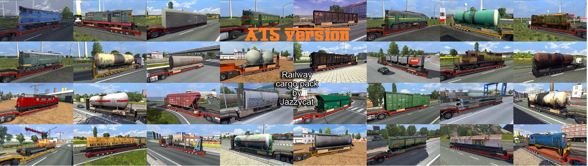 ATS - Railway Cargo Pack V2.0 (1.36.X)
