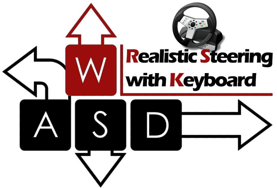 ATS - Realistic Steering with Keyboard V3 (1.38.x)