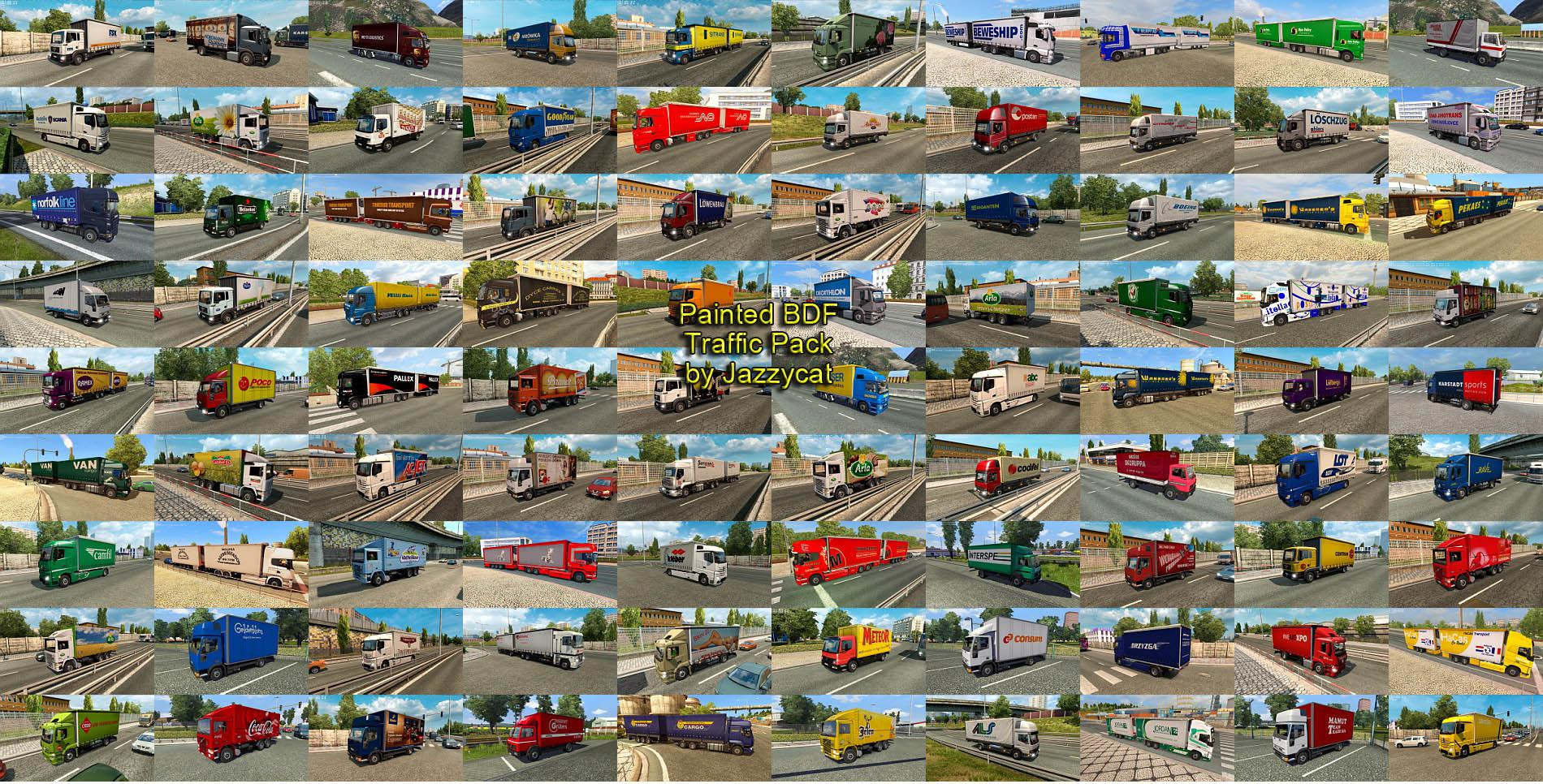 ETS2 - Painted BDF Traffic Pack V6.1 (1.35.x)