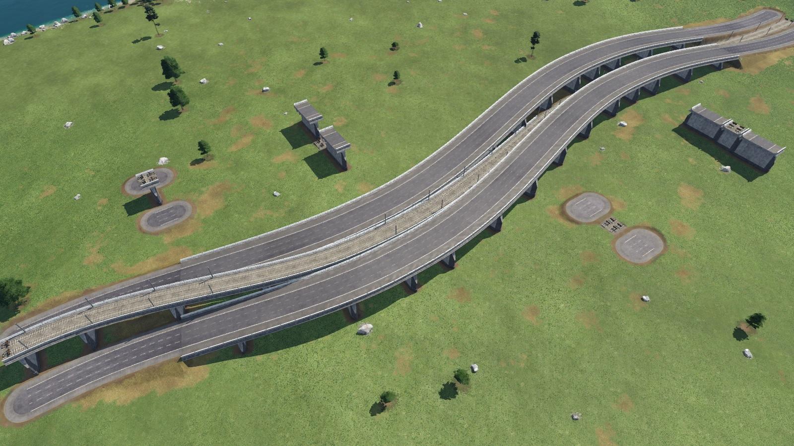 Transport Fever 2 - Median Strip Tracks