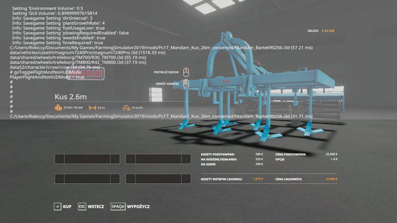 FS19 - Mandam Kus 2.6M V1.0