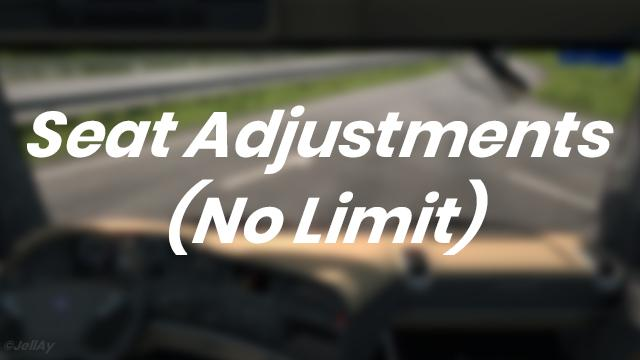 ETS2 - Seat Adjustments (No Limit) V1.0 (1.35.x)