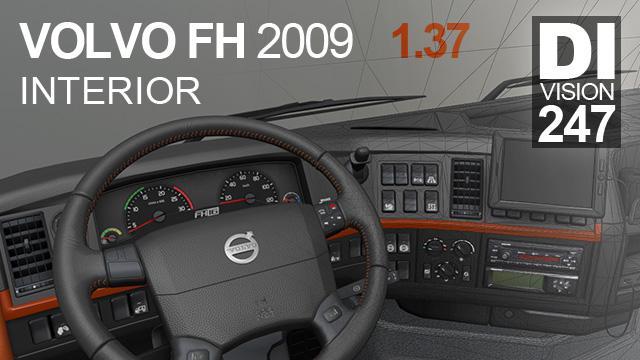 ETS2 - Volvo FH 2009 interior V12.04.20 (1.37.x)