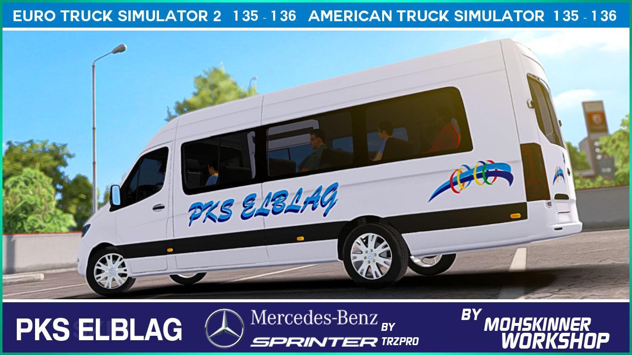 ETS2 - Mercedes Sprinter - Pks Elblag Skin (1.36.x)