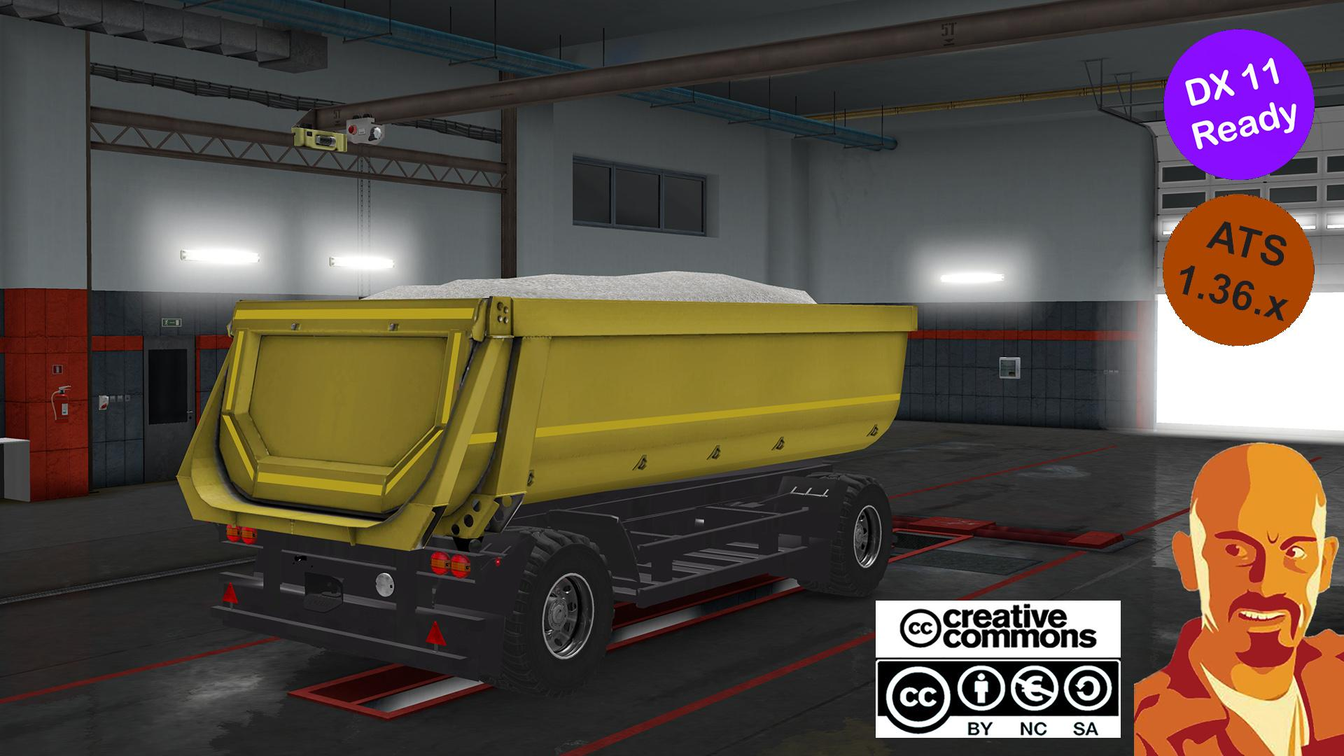 ATS - Kipper Agrar Trailer for Rear Hook Trucks (1.36.X)