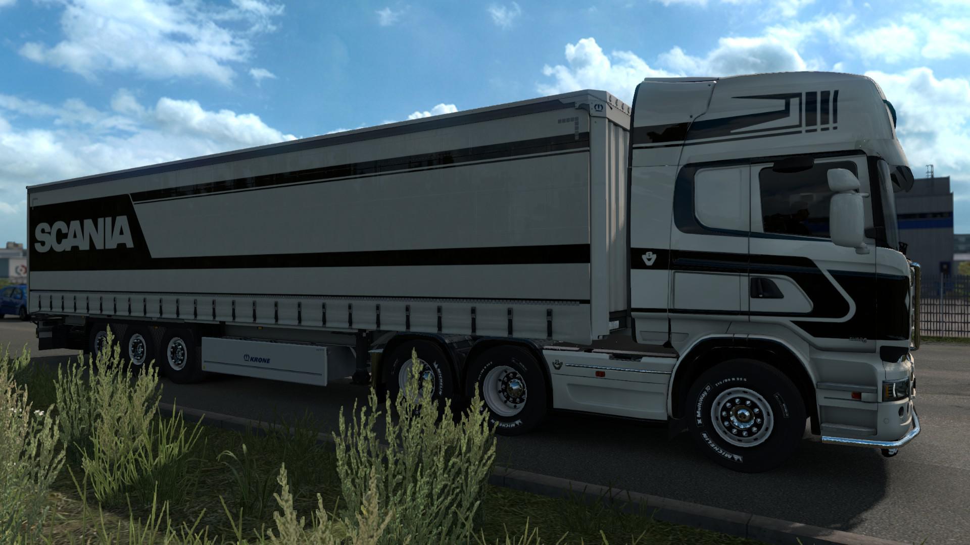 ETS2 - Black and White Scania Streamline Topline V1.0 (1.35.X)