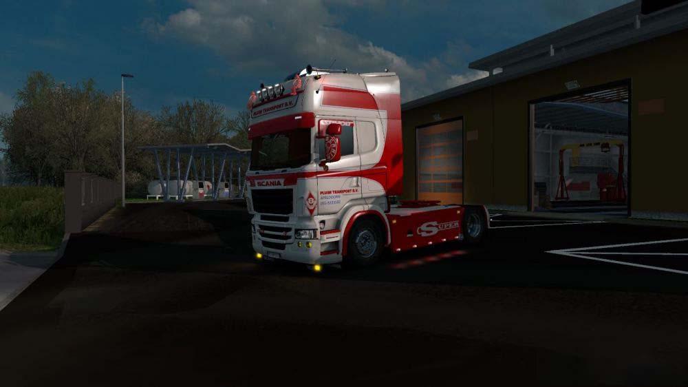 ETS2 - Scania RJL Pluim Transport Skin V1.0 (1.35.X)