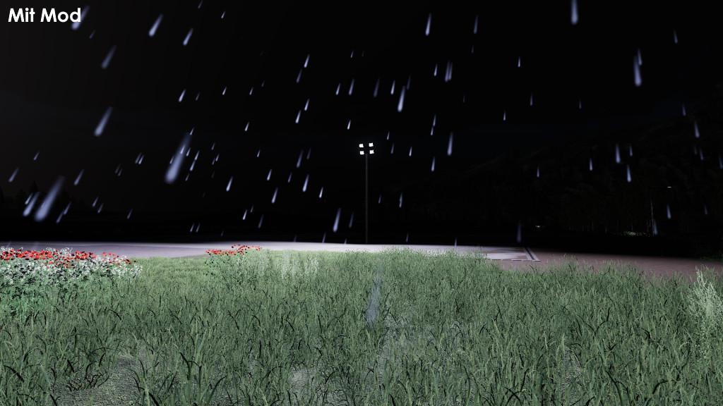 FS19 - Placeable Lights At Rain V1.0