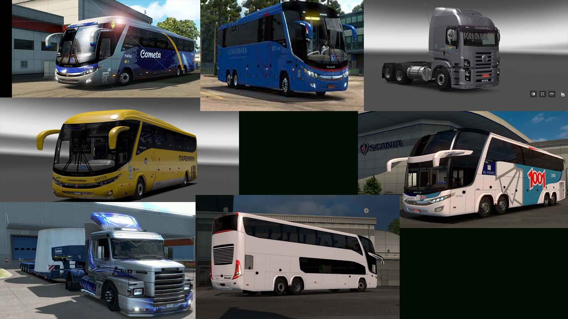 ETS2 - Pack de Onibus/ Caminhao (Bus/Truck)