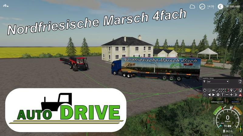 FS19 - AutoDrive Route Network NF March 4-Way with Trenches V2.1