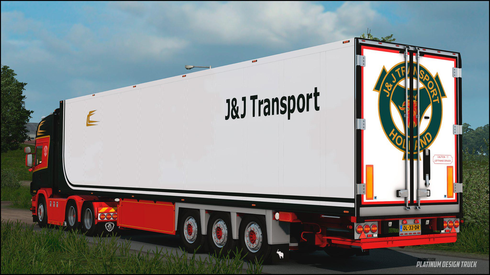 ETS2 - Scania 164 L 480 J&J Transport Official Update (1.39.x)