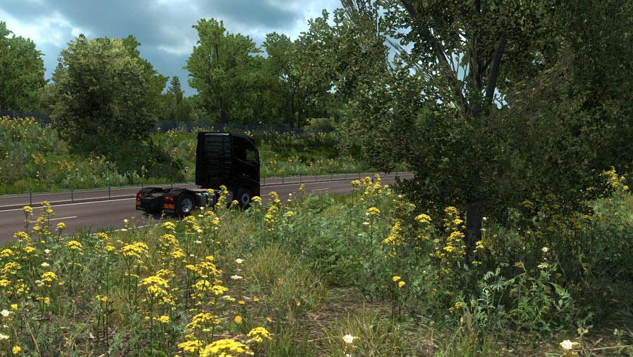 ETS2 - New Summer Graphics/Weather V3.4 (1.36.x)