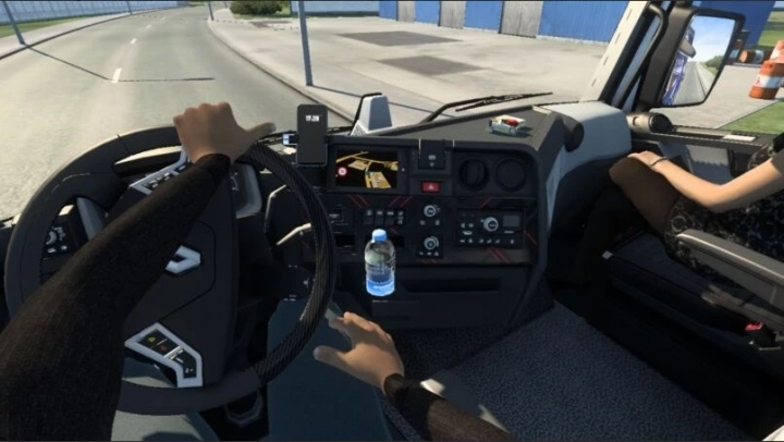 ETS2 - Animated Hands on The Steering Wheel for All Trucks V1.10 (1.40.x)