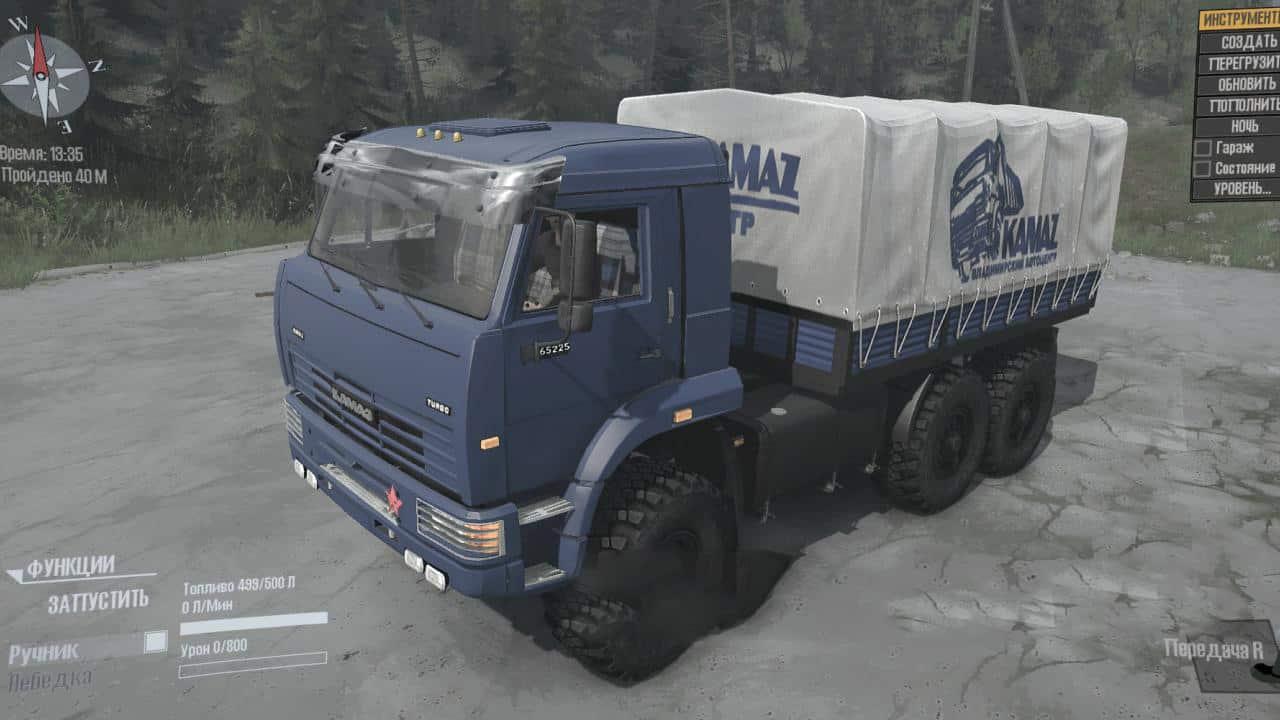 Spintires:Mudrunner - KamAZ-65225 Truck V06.09.20