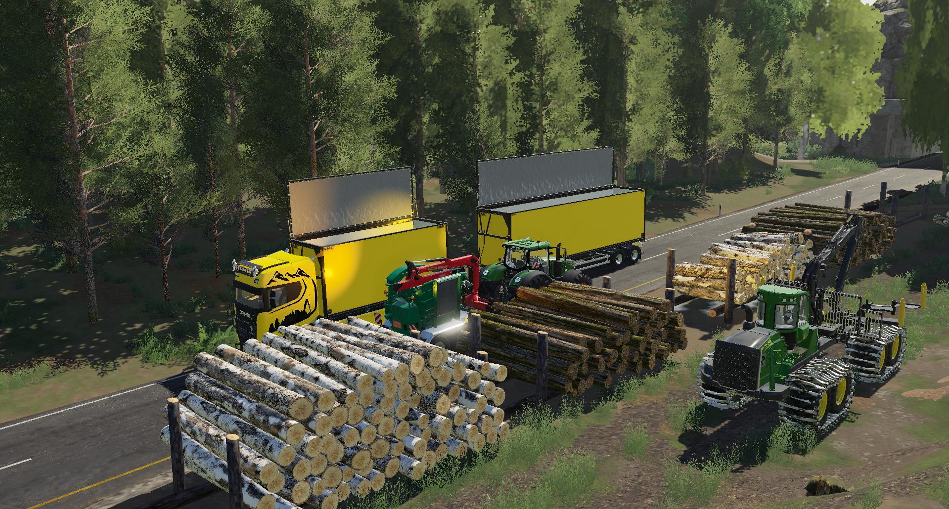 FS19 - Logs Under The Stack V1.0