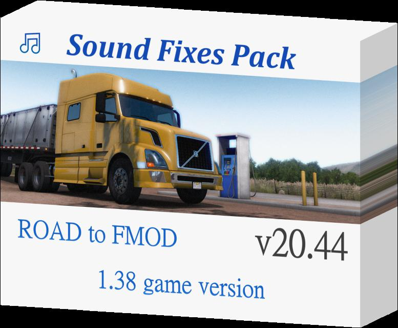 ETS2 - Sound Fixes Pack V20.44 (1.38.x)