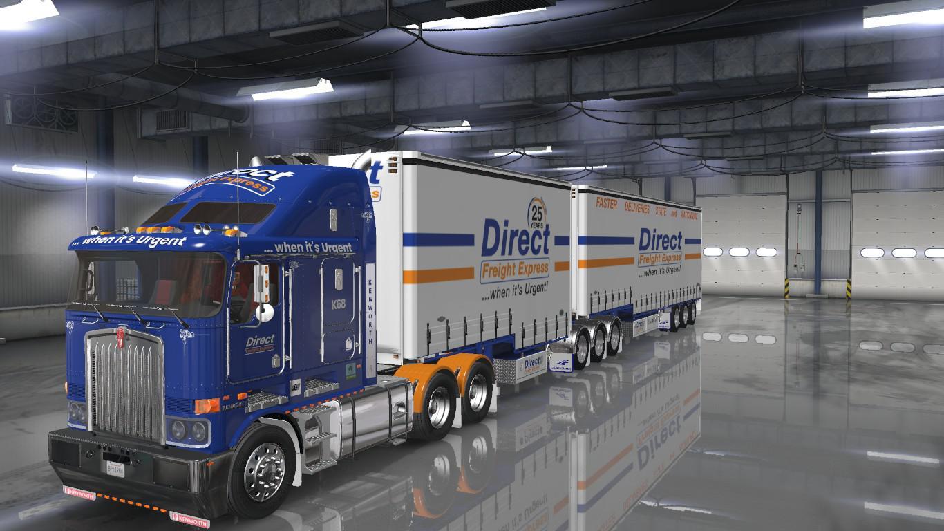 ETS2 - Direct Freight Express Skins V1.0 (1.36.x)