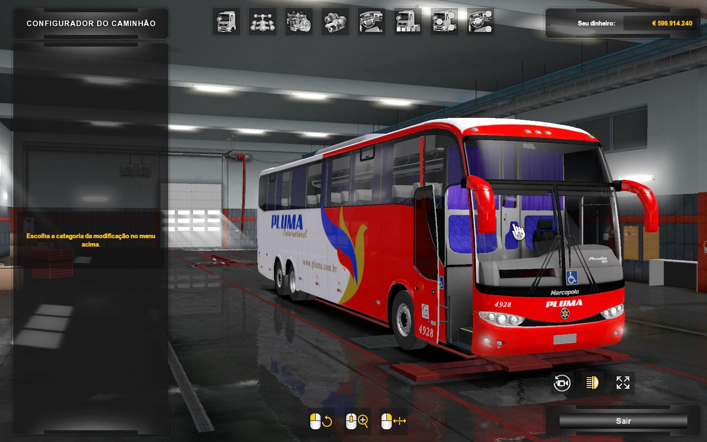 ETS2 - Marcopolo G6 -1200 Mercedes (1.36.x)