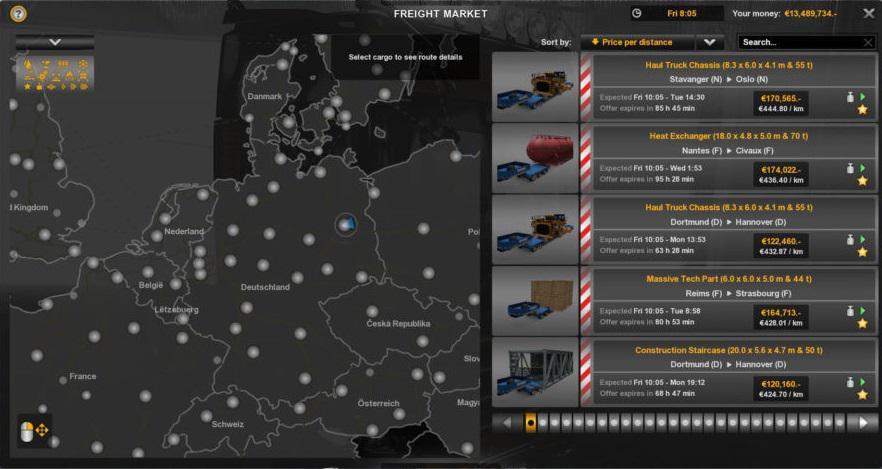ETS2 - More Reward for Cargo V2.1 (1.35.X)