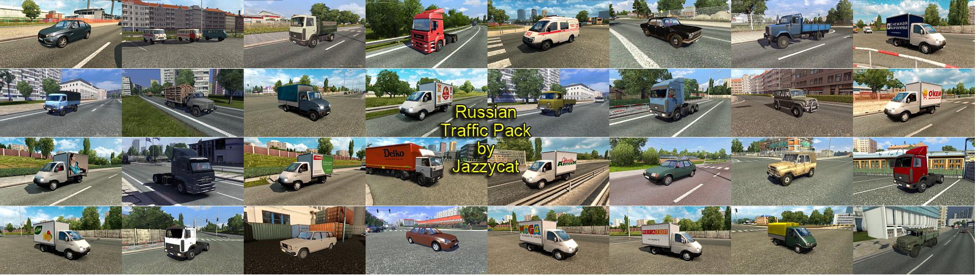 ETS2 - Russian Traffic Pack V2.8.1 (1.36.x)