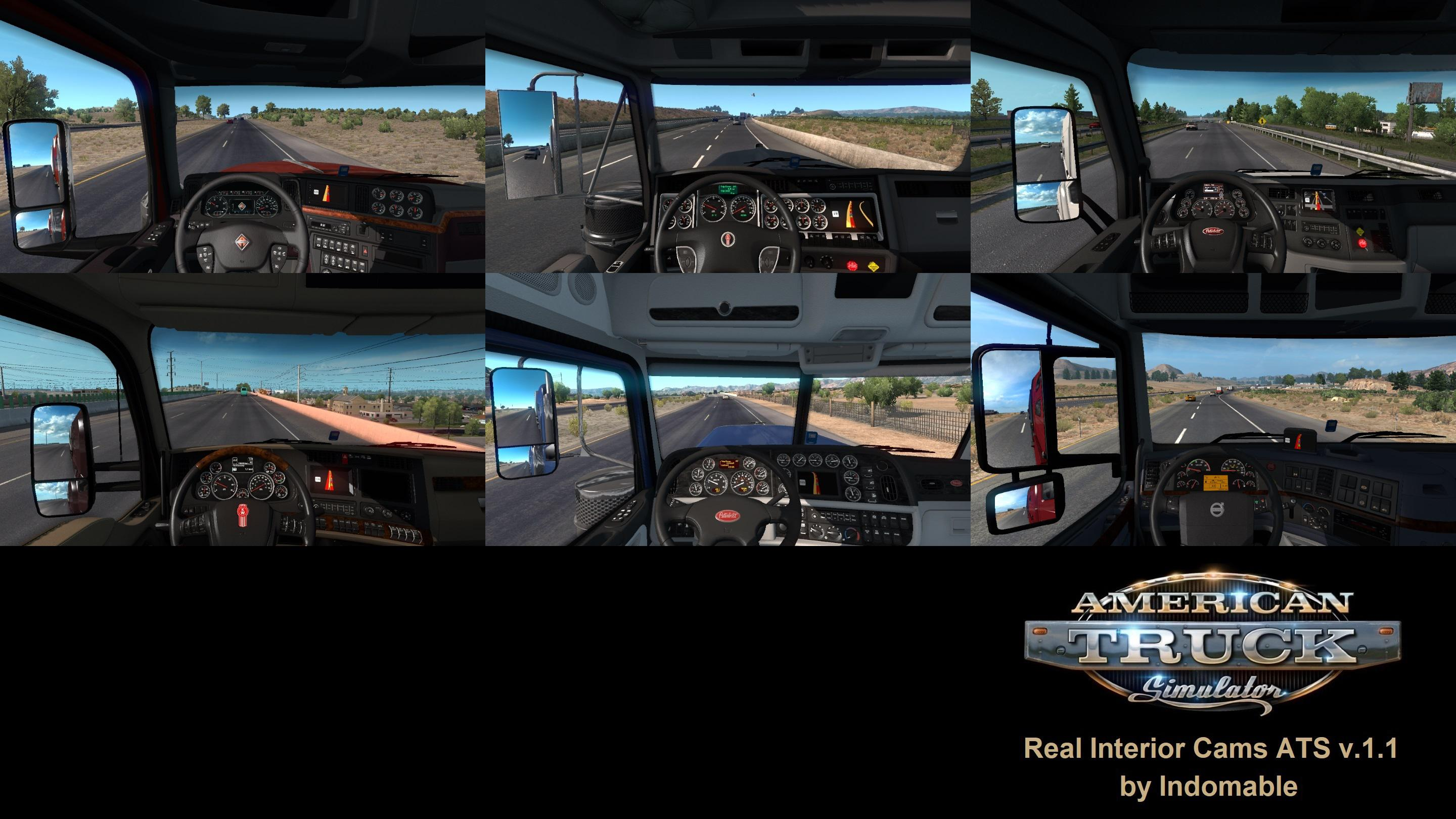 ATS - Real Interior Cams V1.1 (1.36.x)