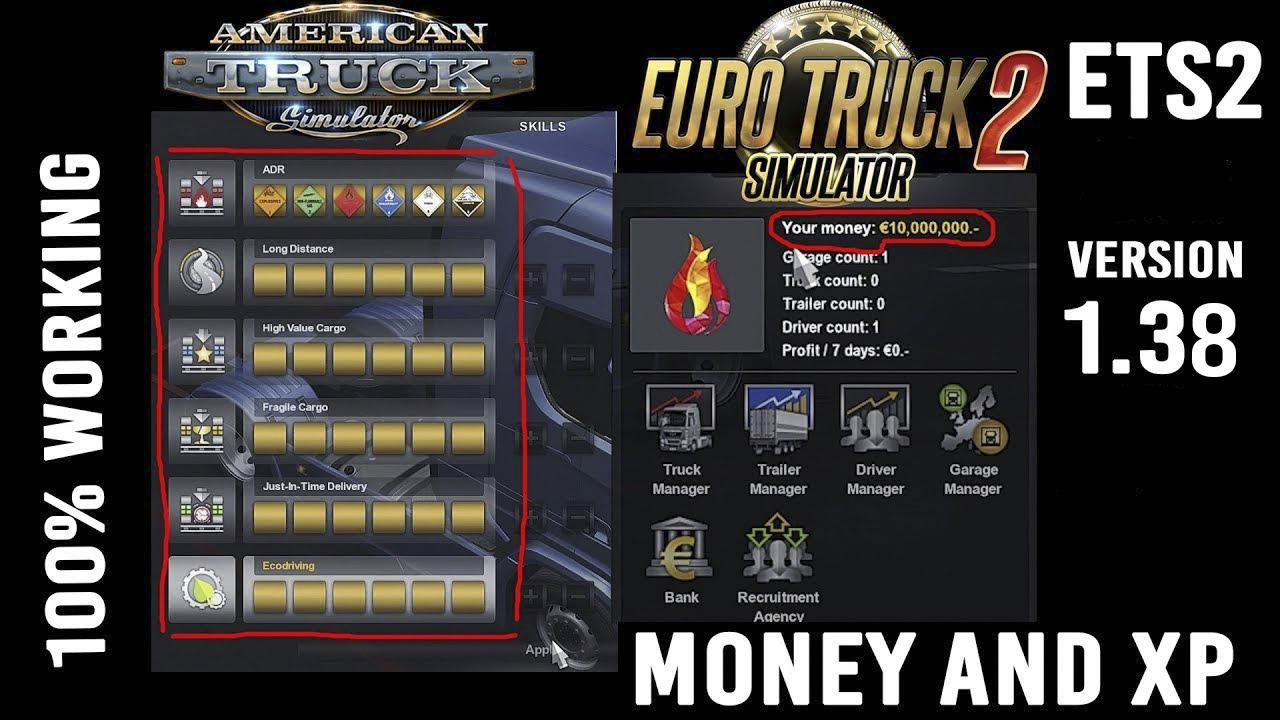 ETS2 - XP And Money Mod (1.38.x)