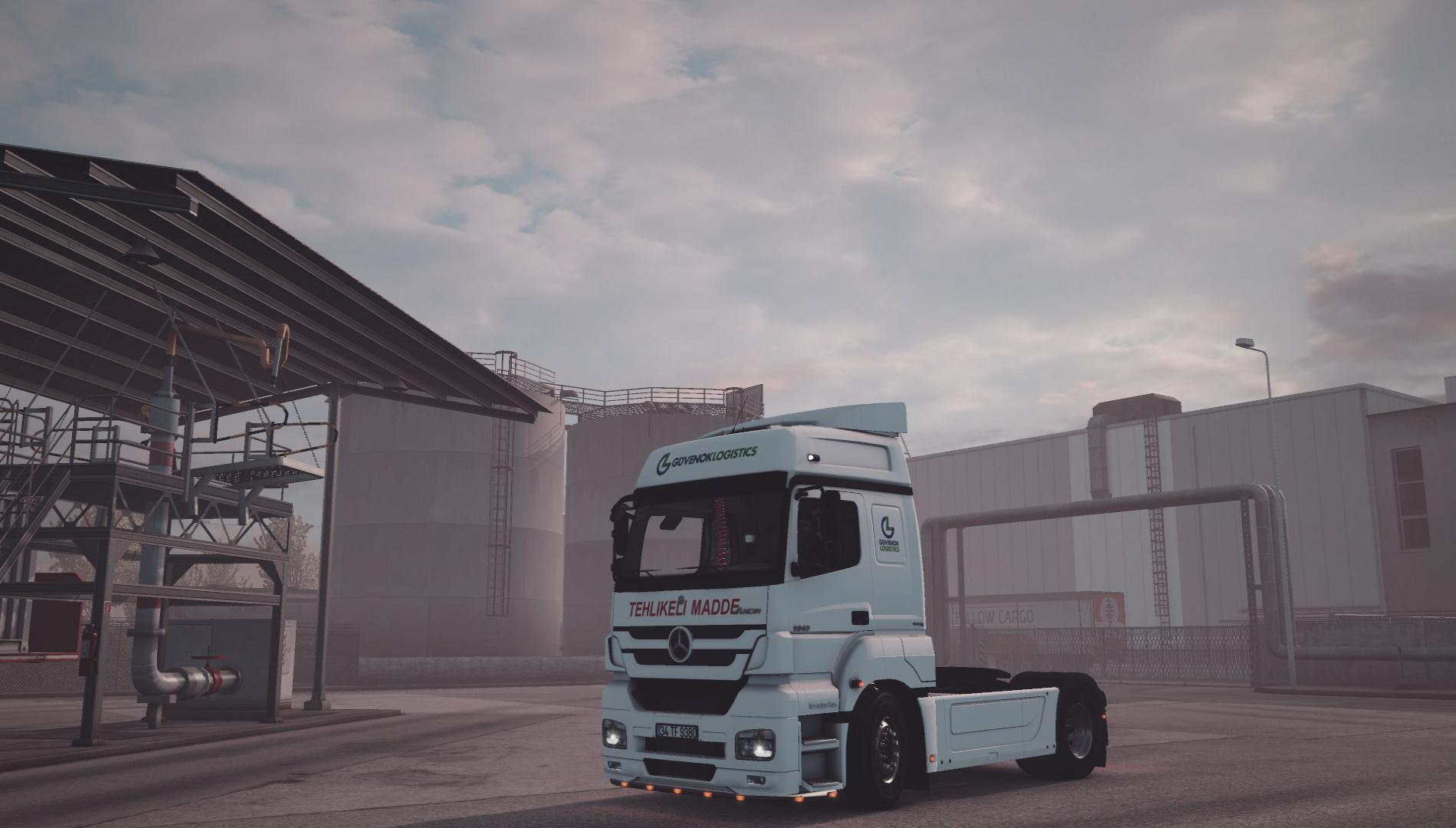 ETS2 - Mercedes Axor 1840 Mp3 Reworked Truck V1.0 (1.36.x)