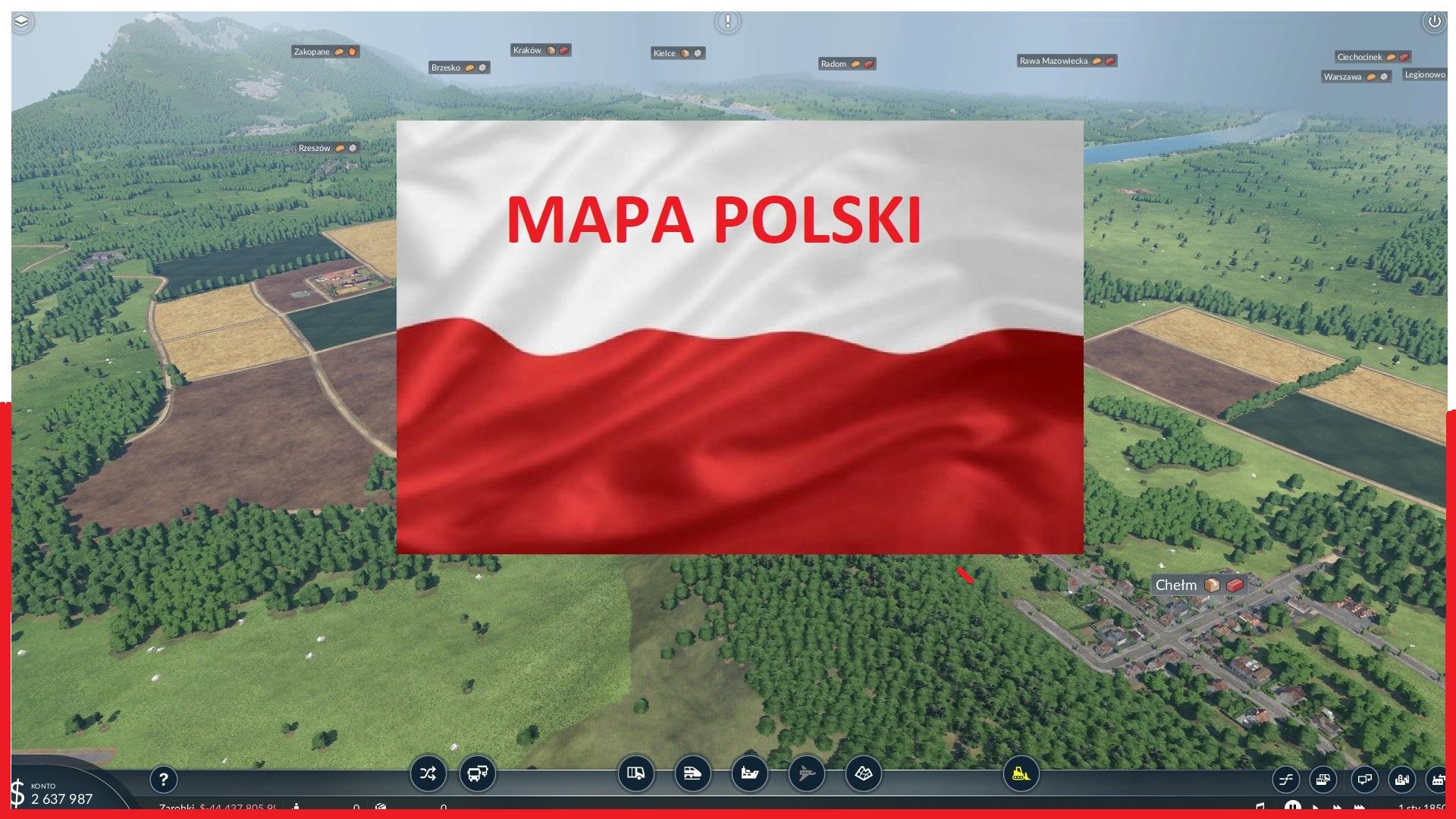 Transport Fever 2 - Polska Map