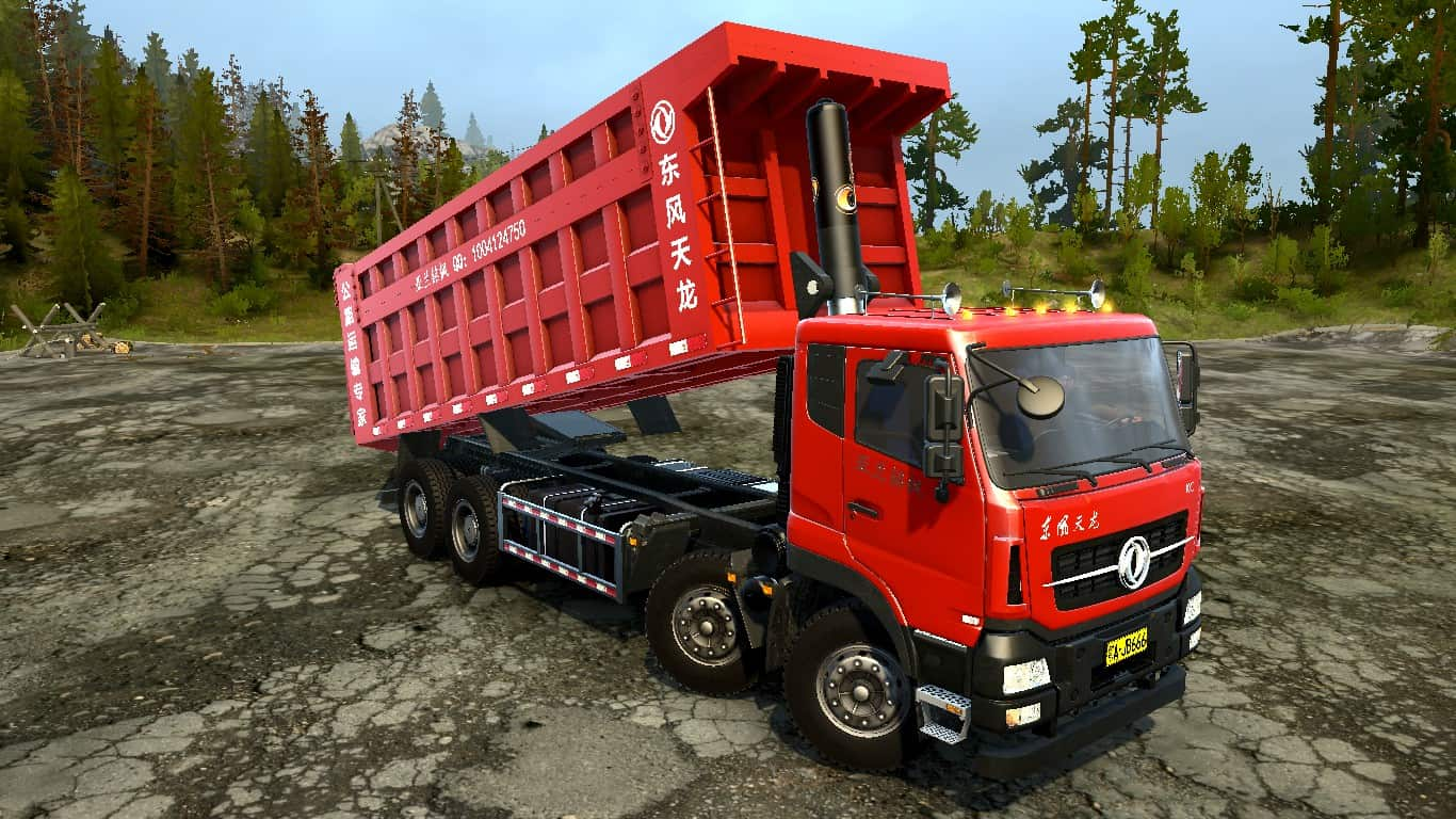 Spintires:Mudrunner - Dongfeng Tianlong Pingding (8X4) Truck v1.0